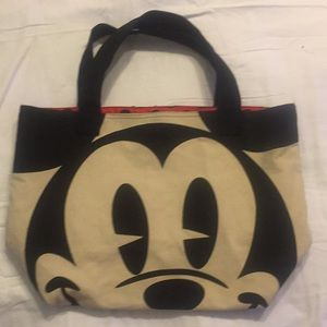 DISNEY MINNIE & MICKEY MOUSE TOTE POLKA DOT Canvas